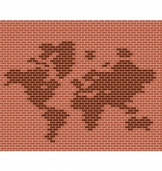 brick map vector image