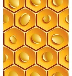 Bright geometric yellow segmented background gold vector