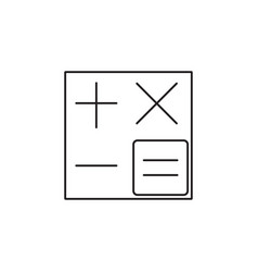 calculator line icon accounting symbol vector image