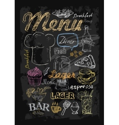 Chalk menu vector