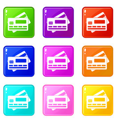 credit card set 9 vector image