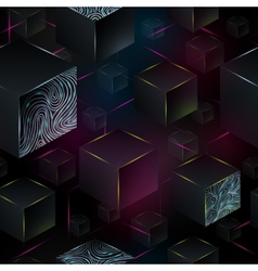 Cube seamless pattern geometric background vector