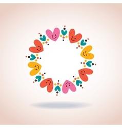Cute hearts circle love symbol sign icon concept vector