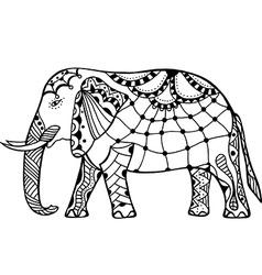 Decorative elephant vector
