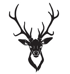 Deer head isolated vector