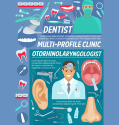 Dentist and otolaryngologist clinic vector