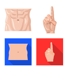 Design of human and part icon set of human vector
