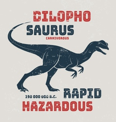 Dilophosaurus t-shirt design print typography labe vector image