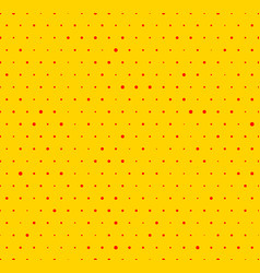 dotted yellow and red pop art pattern seamlessly vector image