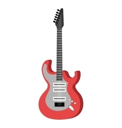 Electric guitar music instrument icon design vector image