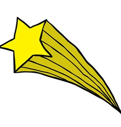 Falling star vector