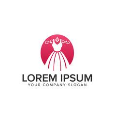 fashion dress beauty logo design concept template vector image