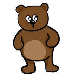 fat bear on white background vector image