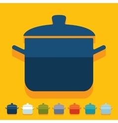 Flat design saucepan vector