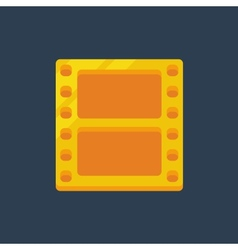 Flat golden film icon vector image