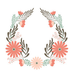 Flower wedding wreath ornament concept vector