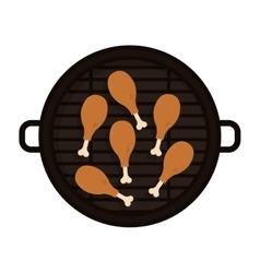 Food grilled with chicken thighs vector