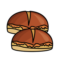 fresh breads food vector image
