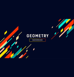geometry abstract colorful banner design vector image