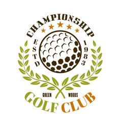 golf club emblem label badge or logo vector image