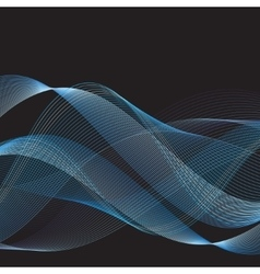 Graphic blue waves vector image