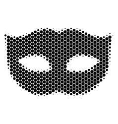 Halftone dot privacy mask icon vector