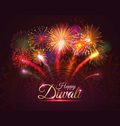 Happy diwali greeting card design vector