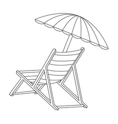 Isolated Beach Chair Vector ...
