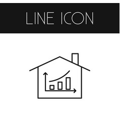 Isolated hut outline diagram element can vector
