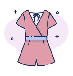 Jumpsuit linecolor vector