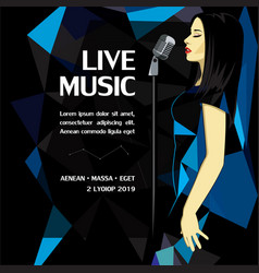 live music party advertising poster vector image