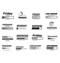 loading week bar business ui interface web vector image