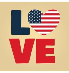 love USA amerika vector image