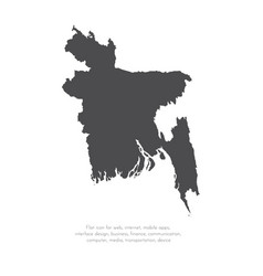 map bangladesh isolated vector image