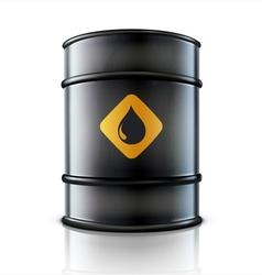 Metal oil barrel vector