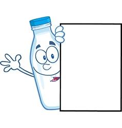 Milk bottle cartoon vector