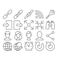 modern line style icons user interface set 4 vector image