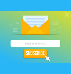 Modern pop-up subscribe form for your website and vector