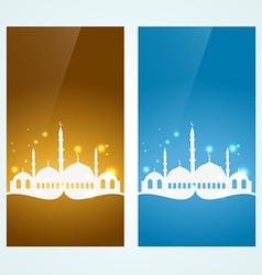 Muslim background set vector