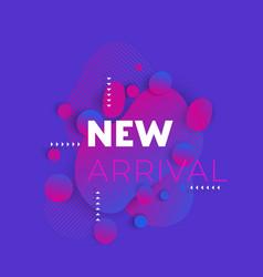 New arrival banner design vector