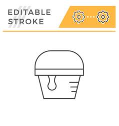 paint bucket line icon vector image