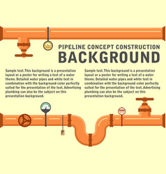 pipeline concept background vector image