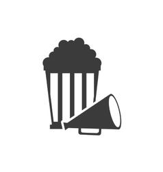 Pop corn with cinematographic icon vector