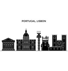 Portugal lisbon architecture city skyline vector