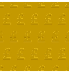 Pound sterling pattern vector image