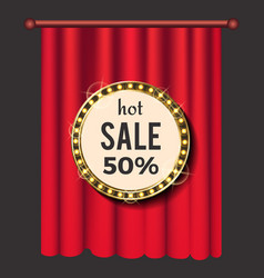 Promotion 50 percent advertising poster vector
