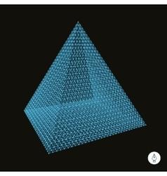 Pyramid 3d vector