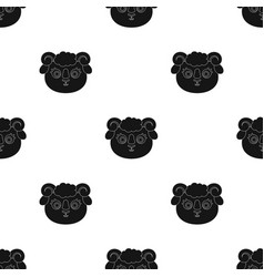 Ram muzzle icon in black style isolated on white vector