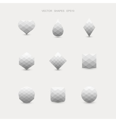Set of abstract grey shapes vector