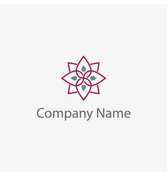 simple flower logo template vector image